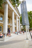 The Saatchi Gallery, famous art gallery entrance in London royalty free stock photos