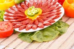 Saausages и овощи Стоковая Фотография RF
