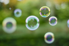 Sabão-bolhas fotos de stock