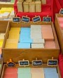 Sabão colorido do quadrado imagens de stock