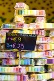 Sabão colorido empilhado Fotografia de Stock