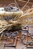 Sabão da alfazema Fotos de Stock