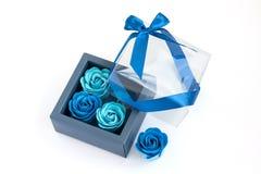 Sabão decorativo em uma caixa fotografia de stock royalty free