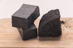 Sabão do carbono e uma pilha do carvão Imagens de Stock Royalty Free