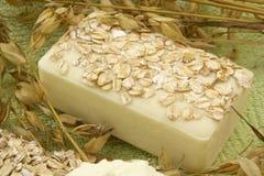 Sabão do Oatmeal Fotos de Stock