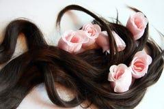 Sabão e cabelo marrom Fotografia de Stock Royalty Free