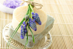 Sabão e sal de banho Handmade Imagem de Stock