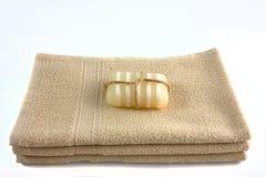 Sabão e toalhas Imagem de Stock