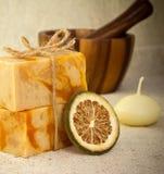 Sabão Handmade. Fotografia de Stock Royalty Free