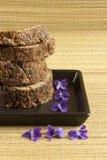 Sabão Handmade com flores Fotografia de Stock