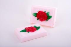Sabão handmade cor-de-rosa Foto de Stock