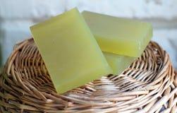 Sabão handmade verde Fotografia de Stock Royalty Free