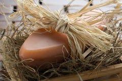 Sabão natural da alfazema fotografia de stock