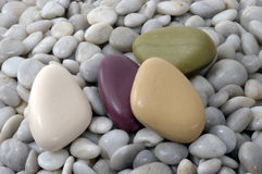 Sabões dados forma pedra foto de stock