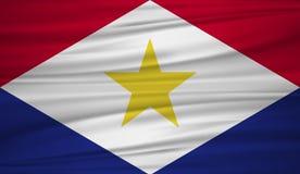 Saba旗子传染媒介 导航Saba blowig旗子在风的 向量例证