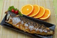 Saba鱼排 库存照片