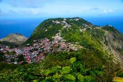 Saba Καραϊβικές Θάλασσες στοκ εικόνα με δικαίωμα ελεύθερης χρήσης