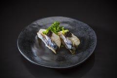 Saba Bouzushi Nigiri, sushi Saba photos libres de droits