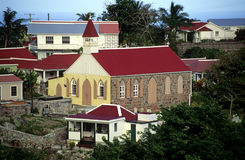 Saba Church Royalty Free Stock Photo