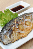 Saba Fische gegrillt Stockfotos