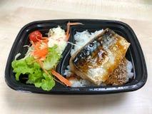 Saba-Fische gegrillt mit teriyaki Soße lizenzfreie stockfotografie