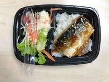 Saba-Fische gegrillt mit teriyaki Soße lizenzfreie stockfotos