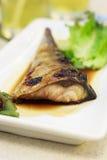 Saba fish grill Stock Photos