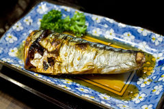 Saba fish  grilled Stock Photo