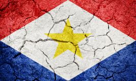 Saba flag royalty free stock images