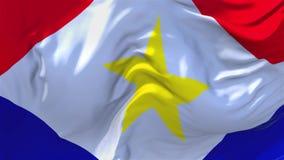 236 Saba Flag Waving en fondo inconsútil continuo del lazo del viento stock de ilustración