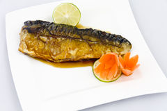 Saba, grilled Mackerel Stock Photo