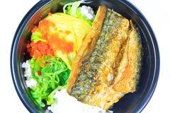 Saba and rice or Shioyaki Stock Photography