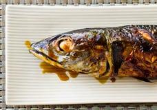 Saba ryba Piec na grillu Obrazy Stock