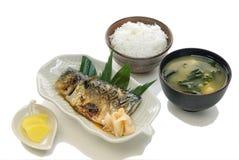 Saba Teriyaki Set Stock Images