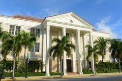 Sabadell bank & förtroendebyggnad, Palm Beach, Florida Arkivbild