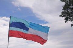 Sabah flagga arkivbilder