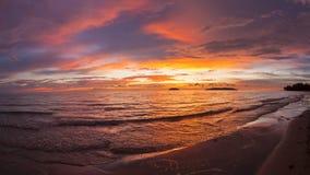 Sabah sunset royalty free stock photography