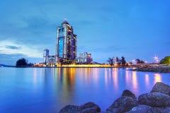 Sabah State Administrative Centre ist ein Regierungsbürokomplexgebäude lizenzfreie stockfotos