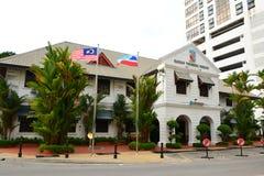 Sabah Tourism Board-voorgevel in Jalan Gaya, Kota Kinabalu, Maleisië stock fotografie