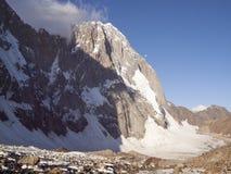 Sabakh peak 5300 m. Ashat valley, Kyrgystan, Pamir Alay Stock Photos