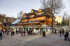 Sabala Hotel towering over Krupowki in Zakopane Royalty Free Stock Photo