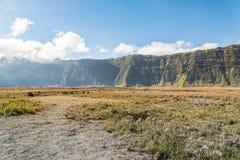 Sabana en los volcanes de Bromo del soporte Imagenes de archivo