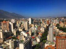 Sabana stort Caracas Venezuela affärsområde arkivfoton