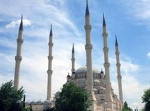 Sabanci Central Mosque in Adana. Royalty Free Stock Photos