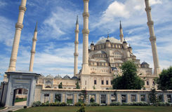 Sabanci Central Mosque in Adana. Exterior of Sabanci Central Mosque in Adana, Turkey Royalty Free Stock Image