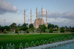 Sabanci-Moschee und der Park Lizenzfreies Stockbild