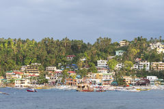 Sabang beach during a cloudy evening in the Philippines Stock Image