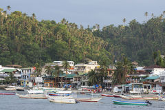 Sabang beach during a cloudy evening in the Philippines Stock Images