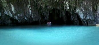 Sabang souterrain Philippines palawan de fleuve Images libres de droits
