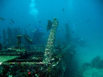 Sabang wreck. Divers at sabang wrecks Royalty Free Stock Images